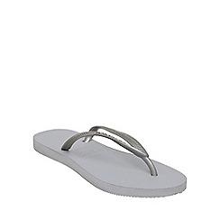Havaianas - Silver '4000030' slim metallic flip flop
