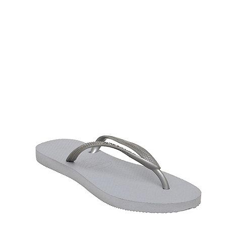 Havaianas - Silver slim metallic flip flop