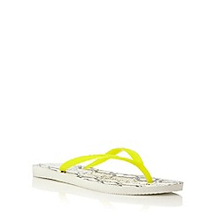 Havaianas - Neutral slim animal print flip flop