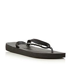 Havaianas - Black metallic logo flip flop