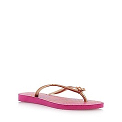 Havaianas - Pink slim thematic charm flip flop