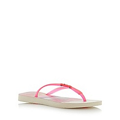 Havaianas - Pink fluoro jelly tropical flip flop