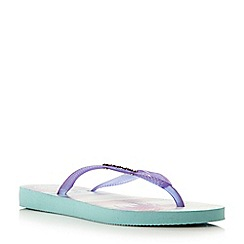 Havaianas - Purple fluoro jelly tropical flip flop