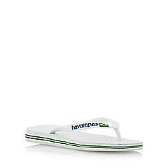 Havaianas - Black/ white brasil logo flip flops