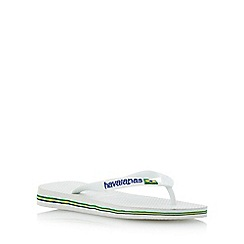 Havaianas - Black/ white brasil logo flip flop