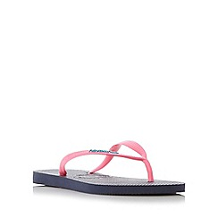 Havaianas - Navy colour pop slim strap flip flop