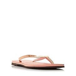 Havaianas - Pink '4135102' slim metallic strap flip flop