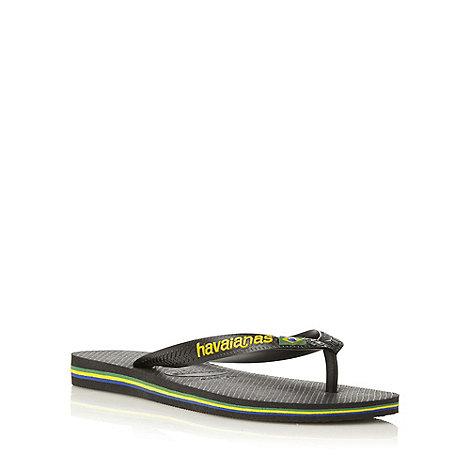 Havaianas - Black +4110850+ classic flag flip flop