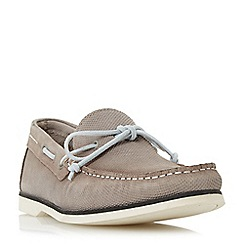 Bertie - Taupe 'Bubble' textured suede boat shoe