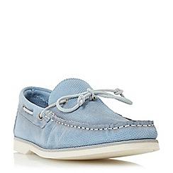 Bertie - Blue 'Bubble' textured suede boat shoe