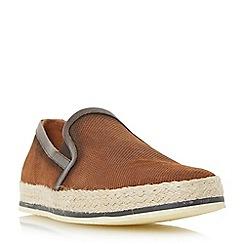 Bertie - Tan 'Brie' espadrille slip on shoe