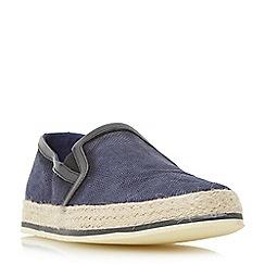 Bertie - Navy 'Brie' espadrille slip on shoe