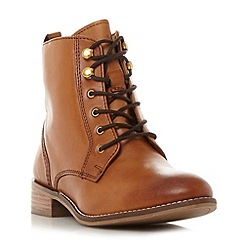 Dune - Tan 'Quincey' lace up ankle boot