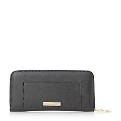Dune - Black 'Sandy' front pocket zip around travel wallet
