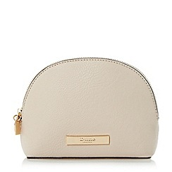 Dune - Cream 'Serena' small oval make up bag