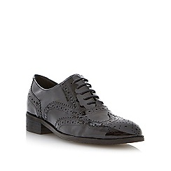 Dune - Black leather lace up brogue