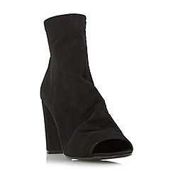Dune - Black 'Odelle' peep toe ankle boot