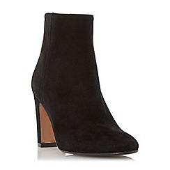 Dune - Black 'Ophira' suede almond toe ankle boot