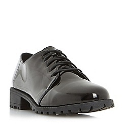 Head Over Heels by Dune - Black 'Franki' cleated sole lace up shoe