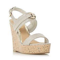 Head Over Heels by Dune - Light green 'Kaylee' two part cork wedge sandal