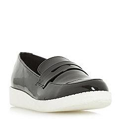 Head Over Heels by Dune - Black 'Glider' flatform penny loafer shoe