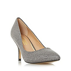 Head Over Heels by Dune - Grey 'Andrina' pointed toe mid heel court shoe
