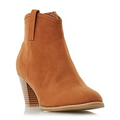 Head Over Heels by Dune - Tan 'Pacha' western ankle boot