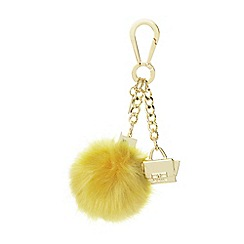 Dune - Yellow 'Jess' cube pom pom and min bag keyring