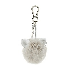 Dune - Grey 'Sia' cat ear pom pom bag charm