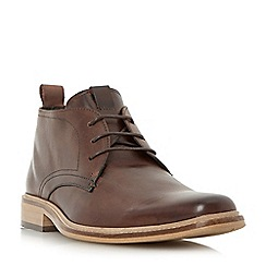 Dune - Brown 'Montenegro' squared toe formal leather boot