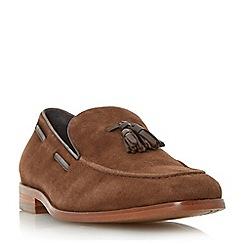 Bertie - Tan 'Ryon' tassel detail suede loafer