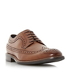 Bertie - Brown 'Rizzo' longtip leather brogue shoe