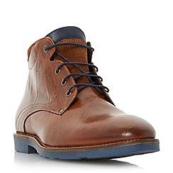 Bertie - Tan 'Chordd' corduroy collar lace up boot