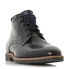 Bertie - Black 'Chordd' corduroy collar lace up boot