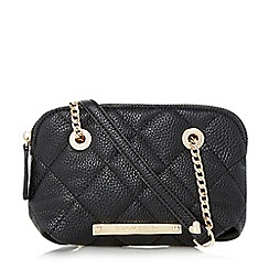 Head Over Heels by Dune - Black 'Heatherr' small quilted shoulder bag