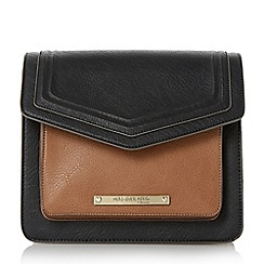 Head Over Heels by Dune - Black 'Harper' fold over crossbody bag