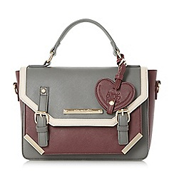 Head Over Heels by Dune - Grey 'Hayley' metal corner detailed satchel bag