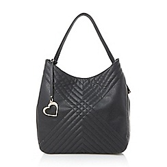 Head Over Heels by Dune - Black 'Helen' quilted double handle tote bag