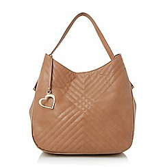 Head Over Heels by Dune - Tan 'Helen' quilted double handle tote bag