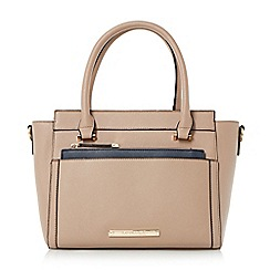 Head Over Heels by Dune - Taupe 'Harlie' removable pouch tote bag