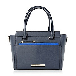 Head Over Heels by Dune - Navy 'Harlie' removable pouch tote bag