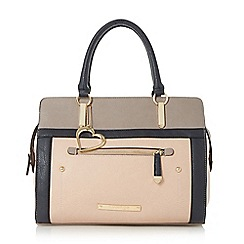 Head Over Heels by Dune - Light pink 'Hannah' colour block top handle bag