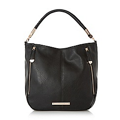 Head Over Heels by Dune - Black 'Hayden' slouch detail double zip shoulder bag