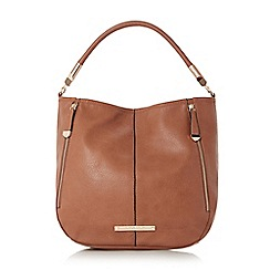 Head Over Heels by Dune - Tan 'Hayden' slouch detail double zip shoulder bag