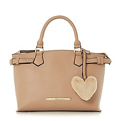 Head Over Heels by Dune - Taupe 'Harlene' saffiano look tote bag