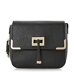 Head Over Heels by Dune - Black 'Harlowe' metal trim cross body bag
