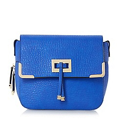 Head Over Heels by Dune - Blue 'Harlowe' metal trim cross body bag