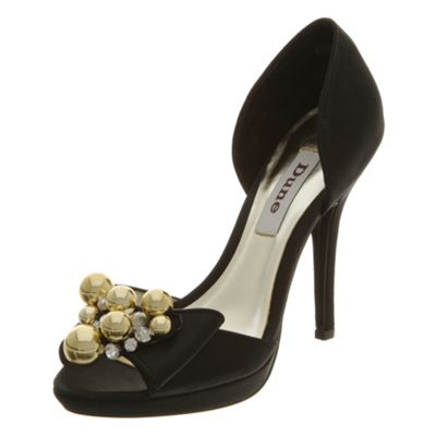 Peeptoe dressy two part court shoe