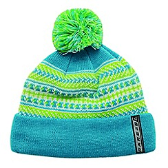 Dare 2B - Boys Blue/lime green braintease winter warm beanie