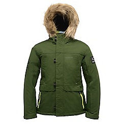 Dare 2B - Kids Green strike force waterproof sports jacket